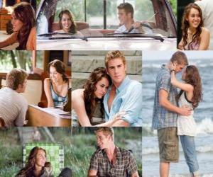 Mehrere Bilder von Miley Cyrus und Liam Hemsworth in seinem neuesten Film, Mit Dir an meiner Seite. puzzle