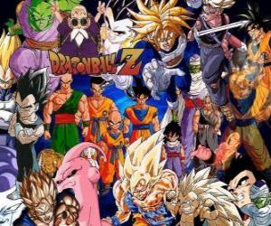Mehrere Charaktere aus Dragon Ball puzzle
