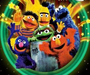 Mehrere Charaktere der Sesamstraße puzzle