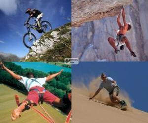 Mehrere extreme Sport und Abenteuer puzzle