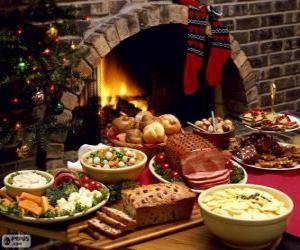 Mehrere Gerichte für Weihnachten puzzle