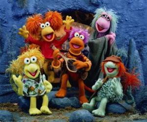 Mehrere Muppets singen puzzle