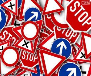 Mehrere Verkehrszeichen puzzle