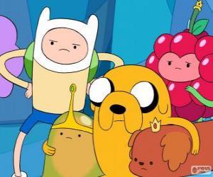 Mehrere Zeichen aus Adventure Time puzzle