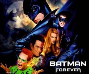 Mehrere Zeichen des Batman puzzle