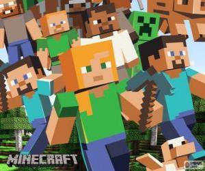 Mehrere Zeichen von Minecraft puzzle
