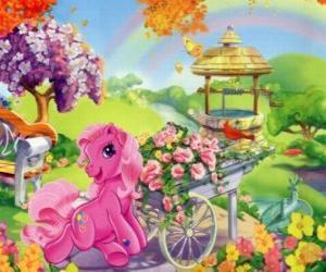 Mein kleines Pony von Blumen umgeben puzzle