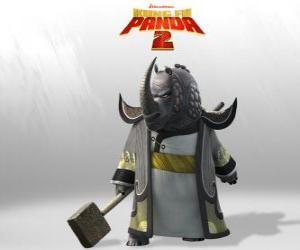 Meister Donnerndes Hashorn ist das vor allem die Meister des Kung Fu Rat verehrt puzzle