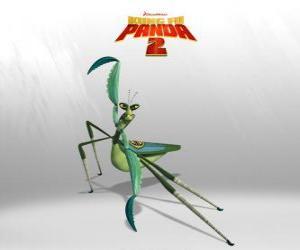 Meister Mantis hat eine sehr klare Napoleon-Komplex: stark, schnell und kurz, hat einen schlechten Charakter puzzle