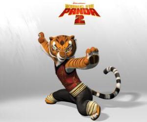 Meister Tigress ist der stärkste und tapferste der Meister des Kung Fu. puzzle