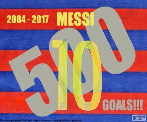 Messi 500 Ziele puzzle