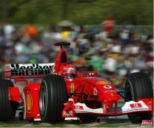 Michel Schumacher (Kaiser) der seinen F1 puzzle