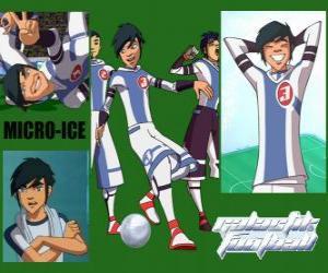 Micro-Ice ist der Joker der Snow Kids-Team, hat die Zahl 3 puzzle