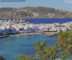 Mikonos, Griechenland puzzle