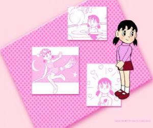 Minamoto Shizuka ist das einzige Mädchen in der Gruppe puzzle
