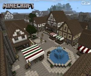 Minecraft Dorf puzzle