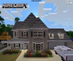 Minecraft Haus puzzle