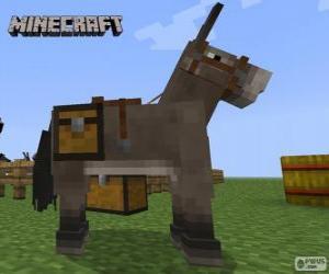 Minecraft-Pferd puzzle