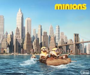 Minions kommen in New York puzzle