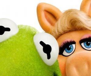 Miss Piggy und Kermit der Frosch puzzle
