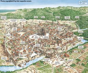 Mittelalterliche Stadt puzzle