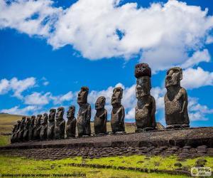 Moais von Rapa Nui puzzle