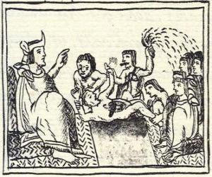 Moctezuma in den Thron. Der Huey Tlatoani, der Herrscher der alten Azteken Menschen puzzle