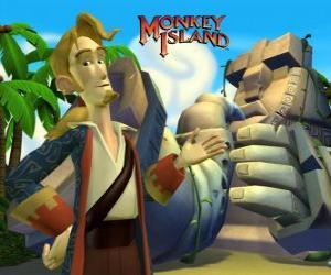 Monkey Island, ein Abenteuer Videospiel. Guybrush Threepwood, ein wichtiger Akteur puzzle