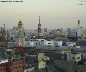 Moskau Stadtzentrum, Russland puzzle