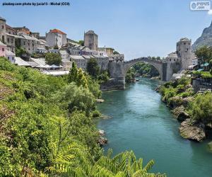 Mostar, Bosnien und Herzegovina puzzle