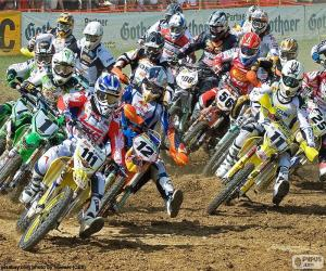 Motocross-Karriere puzzle