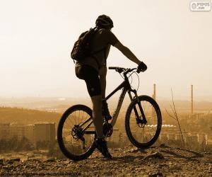 Mountain-Bike-Fahrer puzzle