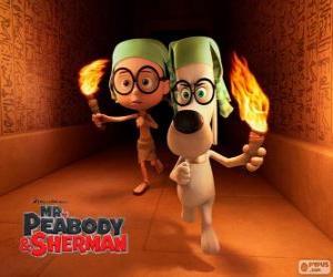 Mr. Peabody und Sherman in eines ihrer Abenteuer in Ägypten puzzle