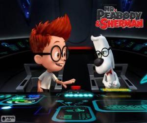 Mr. Peabody und Sherman in seiner Zeitmaschine puzzle