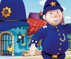 Mr. Plod ist der Polizist der Stadt des Spielzeugs puzzle