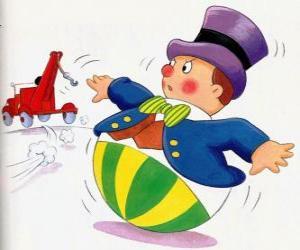 Mr. Wobbly, ein lustiger kleiner Mann mit einem runden Sockel, der nicht lügen kann puzzle
