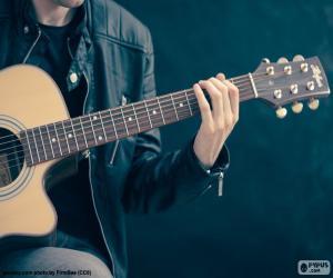 Musiker, Gitarre zu spielen puzzle