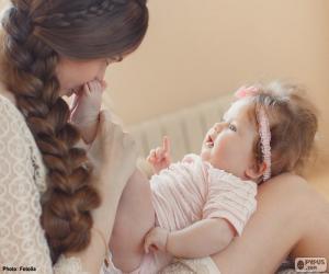 Mutter und ihr baby puzzle