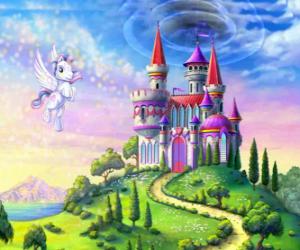 My little Pony fliegen in der Nähe von Schloss puzzle