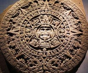 Mystischen aztekischen Kalender puzzle