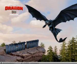 Nachtschatten sind kleine Drachen, die höher fliegen, können schneller und weiter als jede andere Drachen puzzle