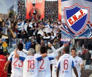 Nacional de Montevideo, meister 2011-2012 der uruguayischer Fußballspieler puzzle