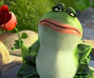Nanette, der Garten Frosch puzzle