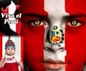Nationalfeiertag von Peru, 28. Juli. Es erinnert an die Erklärung der Unabhängigkeit von Spanien im Jahr 1821 puzzle