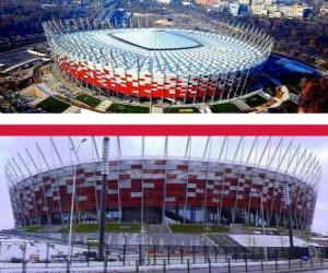 Nationalstadion Warschau (58.145), Warschau - Polen puzzle