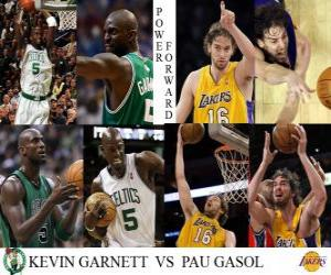 NBA Finals 2009-10, Power Forward Kevin Garnett (Boston Celtics) vs Pau Gasol (Lakers) puzzle