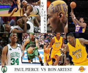 NBA Finals 2009-10, Small Forward Paul Pierce (Boston Celtics) vs Ron Artest (Lakers) puzzle