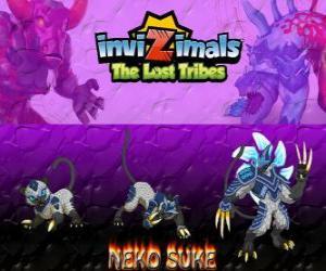 Neko Suke, neueste Entwicklung. Invizimals Die verlorenen Stämme. Diese schleichende Invizimal ist ein Meister der Täuschung puzzle