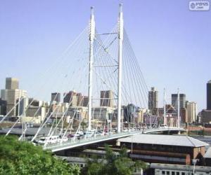 Nelson Mandela Brücke, Johannesburg, Südafrika puzzle