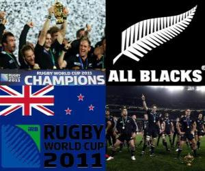 New Zealand Rugby-Weltmeister. Rugby-Union-Weltmeisterschaf 2011 puzzle